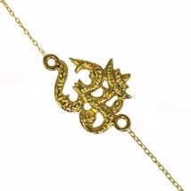 """New Collection """"OM"""" bracelet 925 sterling silver gold plated bracelet SH... - $15.99"""