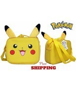 Pokemon Pikachu Lunch Bag Zippered Carry Handle Kids School Insulated Lu... - £36.76 GBP