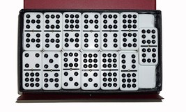 Dominoes Double 9 Nine Jumbo Size White Tile With Spinners - $26.03