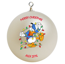 Personalized Donald Duck Christmas Ornament Gift #2 - $16.95