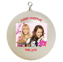 Personalized Hannah Montana and Miley Cyrus Christmas Ornament Gift - $16.95