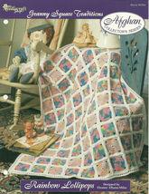 Needlecraft Shop Crochet Pattern 962350 Rainbow Lollipops Afghan Series - $4.99