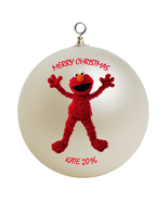Personalized Sesame Street Elmo Christmas Ornament Gift - $16.95