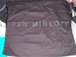Ben Minkoff Sleeper/ Dust Bag Black Cotton with Gray Logo 19x16 Brand New - $8.90