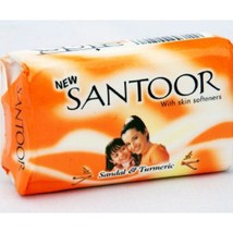 100 Gram X 12 soaps Santoor Sandal and Turmeric Soap  with free shipping image 1