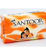 100 Gram X 12 soaps Santoor Sandal and Turmeric Soap  with free shipping - $33.94