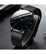 Men's Fashion Ultra Thin Watches Simple Men Business Stainless Steel Mes... - $27.99+