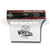 25x MONSTER PROTECTORS DOUBLE DECK BOX - Matte White - Magnetic Lock - $116.38