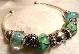 Sea Green Bracelet Bangle a Gift for Her - $24.00