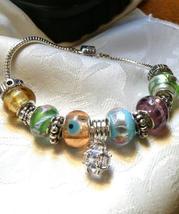 Multi-Foil Bracelet European Bead a Gift for Her - $38.00