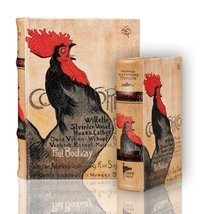 Steinlen's French Rooster Cocorico Nesting Book Box Set Secret Book Boxes ( 2... - $45.53