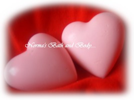 valentine heart soaps. pack of 2, valentine soap, bath, beauty, soap, FREE SHIPP - $5.00
