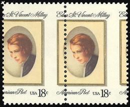 1926 Misperforated ERROR pair -- 18¢ Edna St. Vincent Millay Mint NH Stu... - $24.95