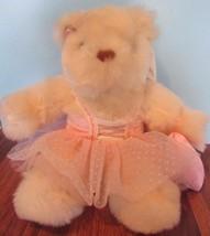 Stuffed Plush Teddy Bear Avon Angel Wings Heart Tutu Bears Angels Ballerina - $23.76