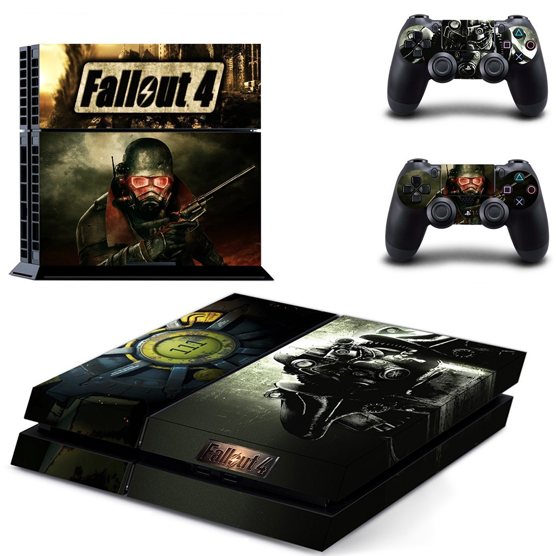 Fallout 4 ps4 skin decal for console and controllers faceplates decals stickers - What consoles will fallout 4 be on ...