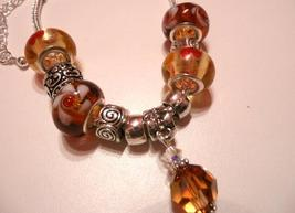 Shades of Autumn Bracelet with European Beads a... - $30.00