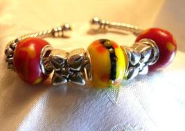 Black over Yellow Bracelet Bangle Gift for Her - $16.00
