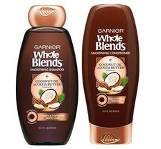 Garnier Whole Blends Coconut Oil & Cocoa Butter Smoothing Shampoo & Cond... - $19.78