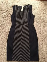NWT Black/Gray J.Crew Dress, Polyester/Wool/Other Blend, Size 4 - $89.99