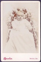 Elsie Ordway Cabinet Photo Bethel, Maine - Child of F.L. & Alice Ordway - $17.50