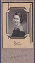 Mildred Elsasser Cabinet Photo - Beatrice, Nebraska - $17.50