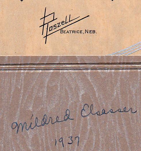 Mildred Elsasser Cabinet Photo - Beatrice, Nebraska