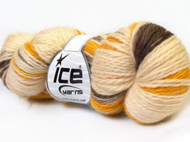3 Pack Hand Dyed Worsted Wool Yarn Cream Yellow... - $39.67 CAD