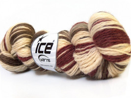 3 Pack Hand Dyed Worsted Wool Yarn Cream Dark R... - $39.67 CAD