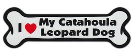 Dog Bone Shaped Car Magnets: I Love My Catahoula Leopard - $6.99