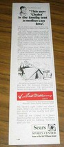 1971 Print Ad Sears Chalet Family Tents Ted Williams Says - $8.95