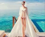 Sexy white chiffon swimwear bikini cover up beach long casual dress thumb155 crop