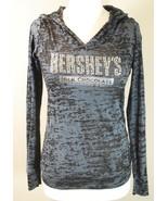 HERSHEY'S CHOCOLATE WORLD Las Vegas BLACK LONG-SLEEVE BURN-OUT T-SHIRT T... - $24.74