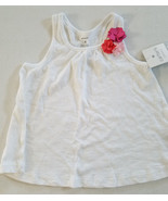Carter's Girls Playwear Pullover Top   Sizes 4  NWT White With Flower - $10.39