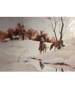 Winter Scene By Arch Unruh - $60.00