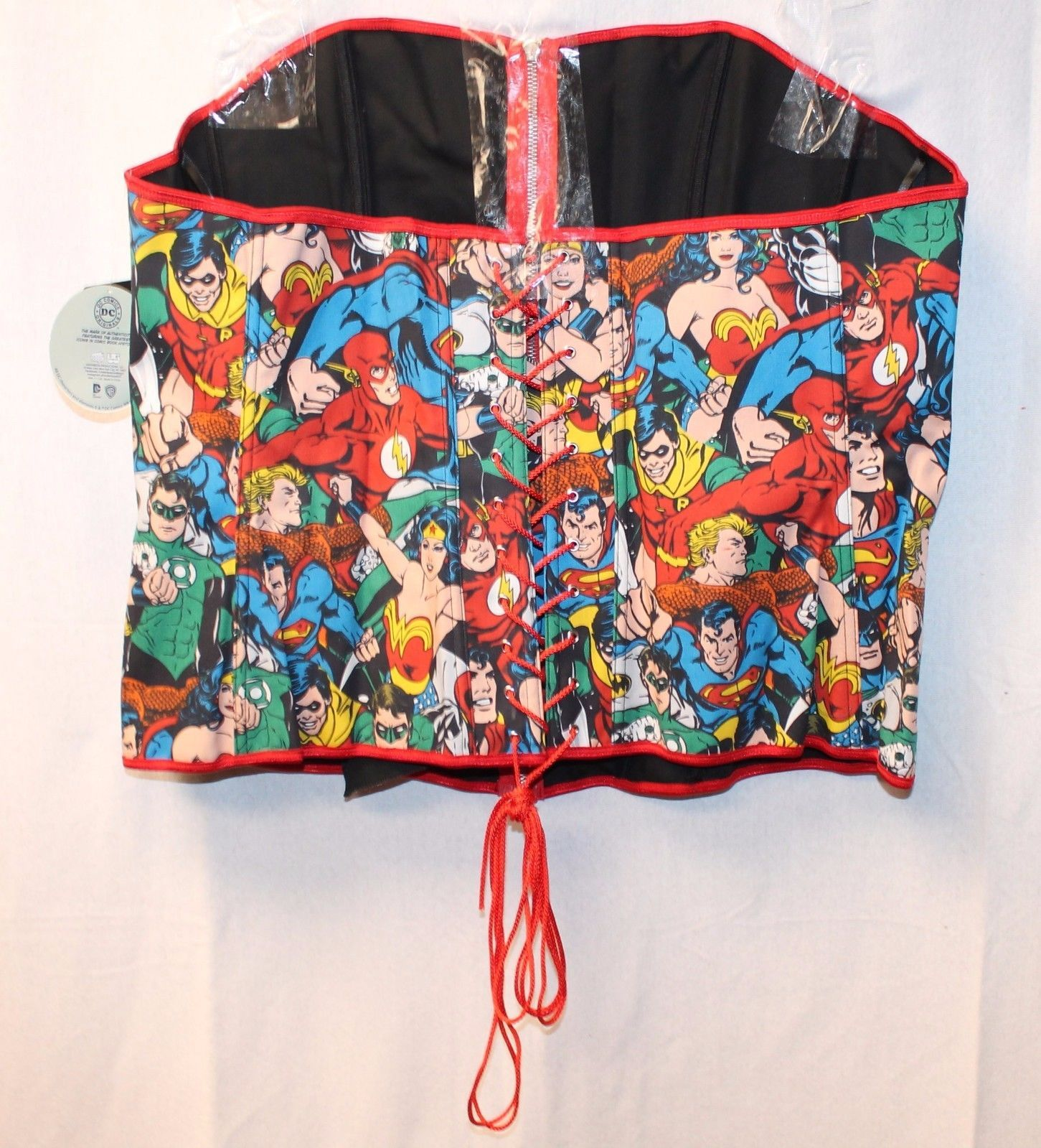 df7ccfb40f NEW TORRID WOMENS PLUS SIZE 4X COSPLAY DC SUPERHERO CORSET BUSTIER WONDER  WOMAN