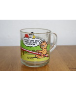 Garfield Teeter Totter Glass Mug (McDonald's) - $12.50
