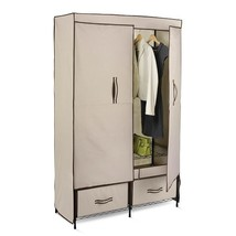 Closet Clothes Double-Door Wardrobe with 2 Drawers - $98.00