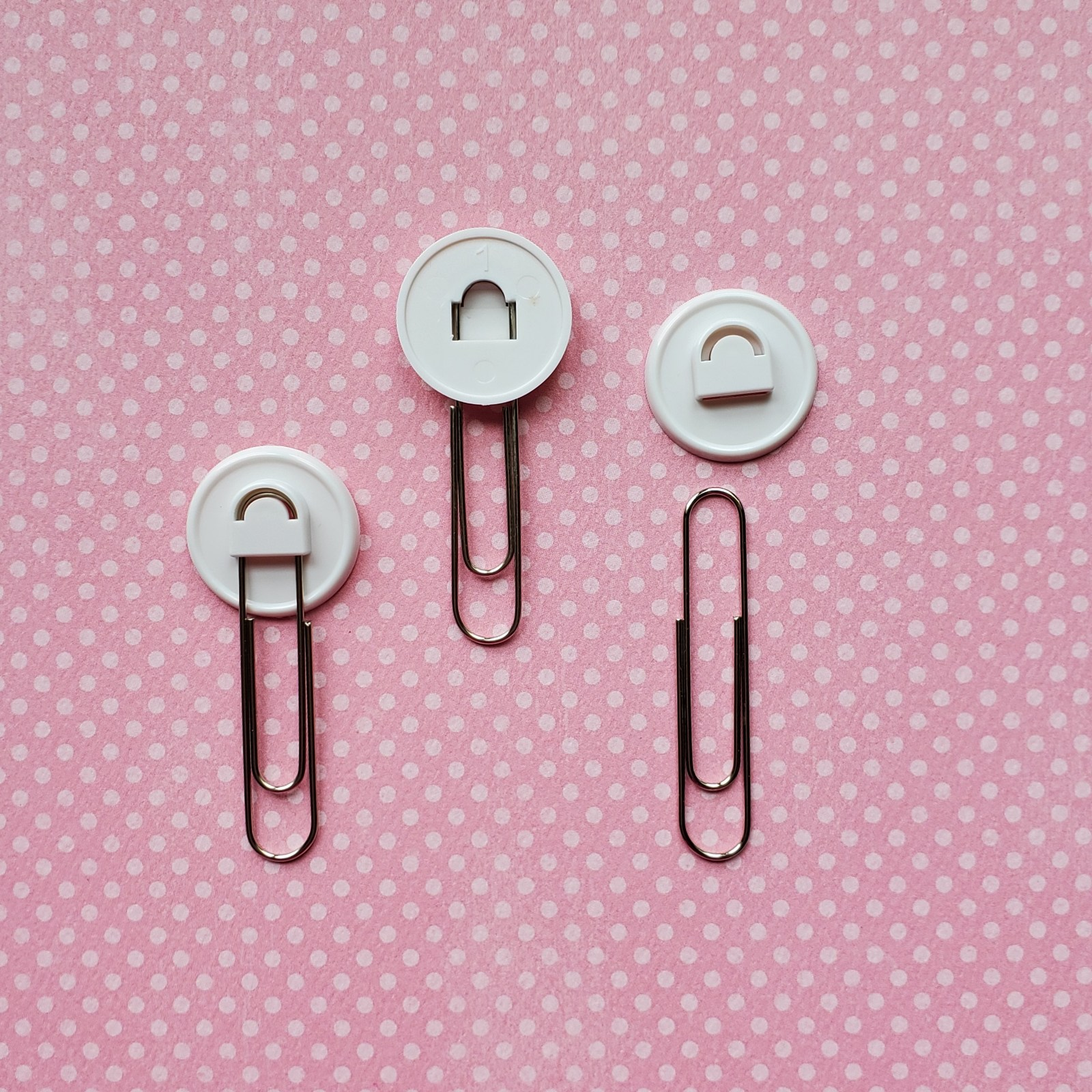 Paper Clip Blanks:  Set of 25 Paper Clips and 25 Blank Backs