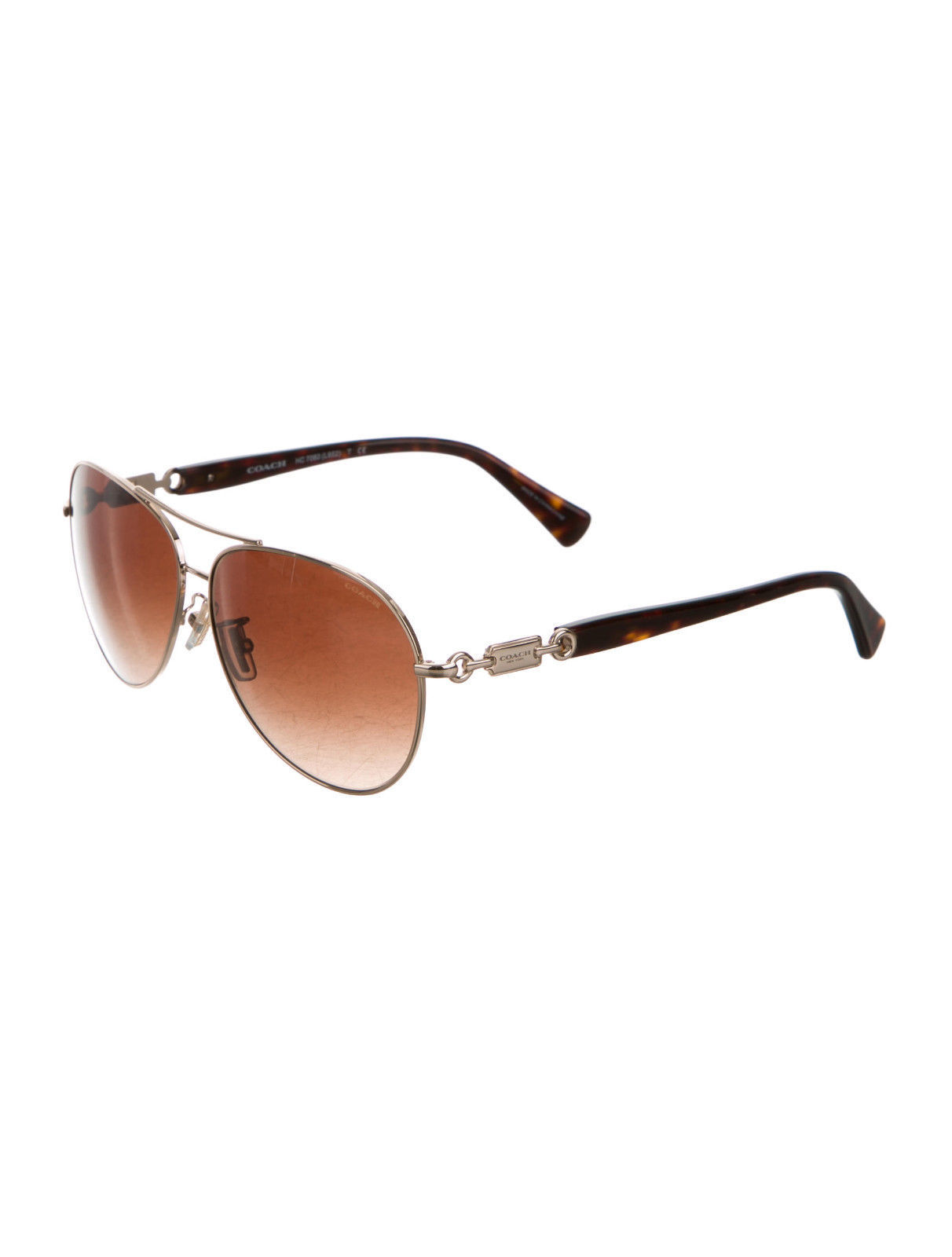 Authentic Coach Aviator Gradient Lens Sunglasses - Brand New - Free Shipping