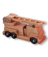 FIRE ENGINE LADDER TRUCK WOOD TOY  Amish Handmade Wood Waldorf Toys Games - $49.47