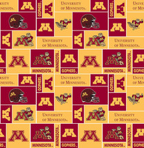 University of Minnesota Golden Gophers College Fleece Fabric Print sminn012-ns - $12.97