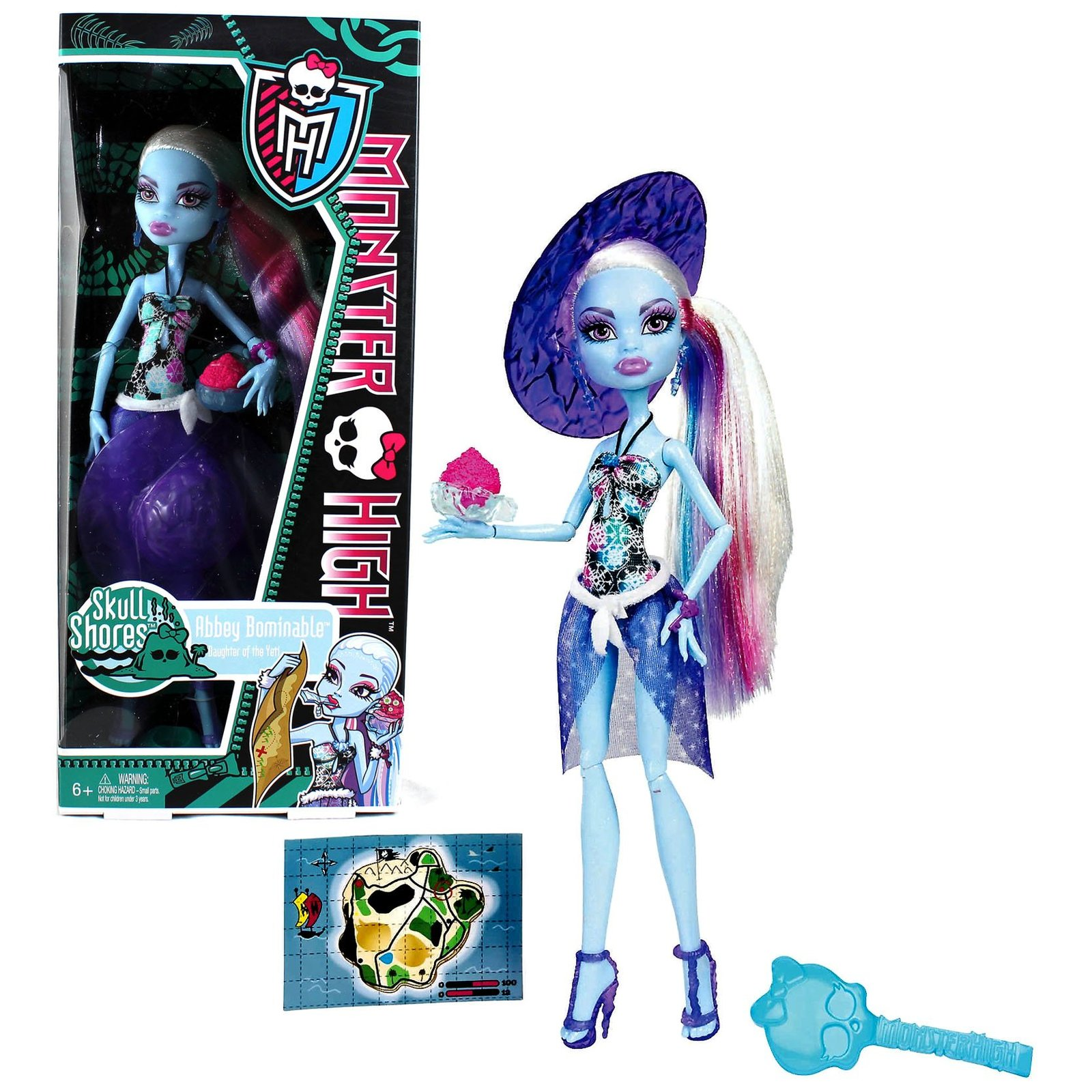 Mattel Year 2011 Monster High Skull Shores Series 10 Inch Doll - Abbey Bominable