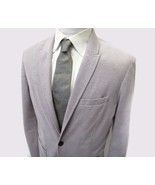 ZARA Collection Blazer 38S Gray Purple Small Dots 2 Button Sport Jacket ... - £21.85 GBP