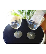 "Set of 2 Crystal Gorham Chanson Platinum Rim Water Goblets 6 1/2"" Tall - $11.88"