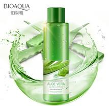 BIOAQUA aloe vera smoothing face toner oil control pores brightens skin ... - $17.40