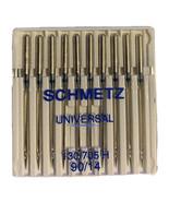 10 Sewing Machine Needles Size 14 Schmetz Universal 130/705 H 90/14 Cotton - $18.59
