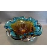 Stunning Petal Art Glass Bow Murano Italian Excellent Condition  - $39.00