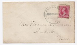 1891 Whitman MA Discontinued/Defunct Post Office (DPO) Postal Cover - $9.95