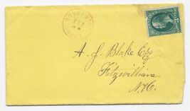 1881 Royalston MA Discontinued/Defunct Post Office (DPO) Postal Cover - $9.95