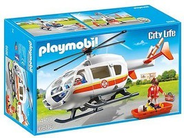 Playmobil 6686 Emergency Medical Helicopter Pla... - $66.21